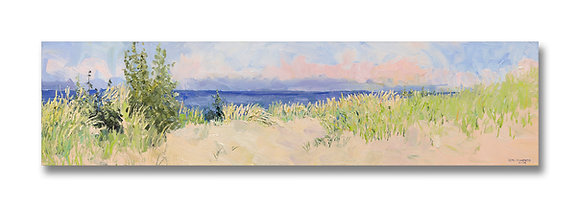"September Morning, Michigan Dunes (2009) Giclée on Canvas - 12"" x 48"""