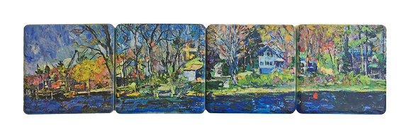Springtime, Kalamazoo River, Saugatuck (2003) Coaster Set