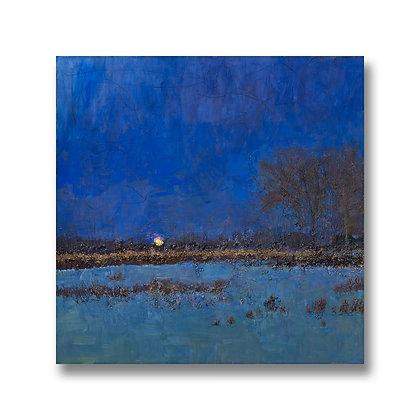 """Moonrise on the Bayou (2019) Giclée on Canvas - 22"""" x 22"""""""