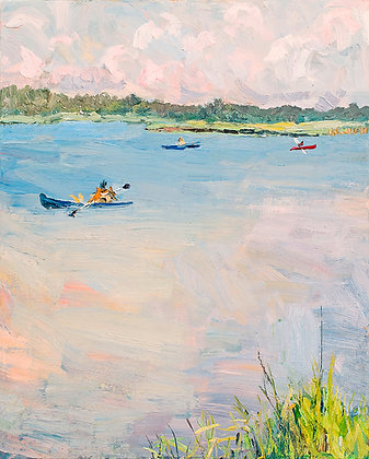Kayakers on the River (2009)