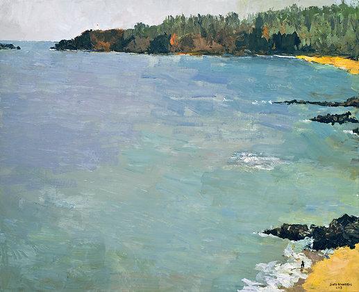 Kauapea, (Overlooking Secret Beach) (2013) Hand-Deckled Card
