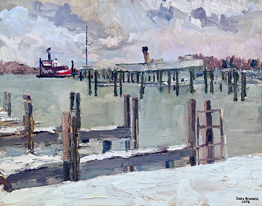 Keewatin, Winter (2012) Textured Giclée on Canvas