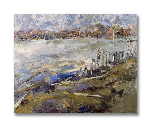 "Along the Kalamazoo, Saugatuck (2001) Giclée on Canvas - 28.5"" x 38.5"""