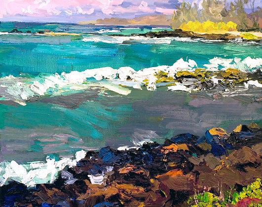 Kauai Landscape (2009) Hand-Deckled Card