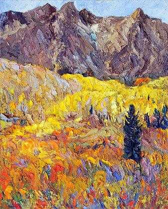 Crested Butte Landscape Hand-Deckled Card