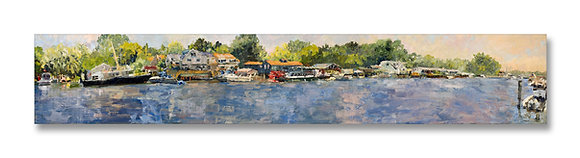"Kalamazoo River, Saugatuck, Michigan (2007) Giclée on Canvas - 10.5"" x 60"""