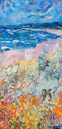 Oval Beach, Autumn, Saugatuck (2003) Hand-Deckled Card