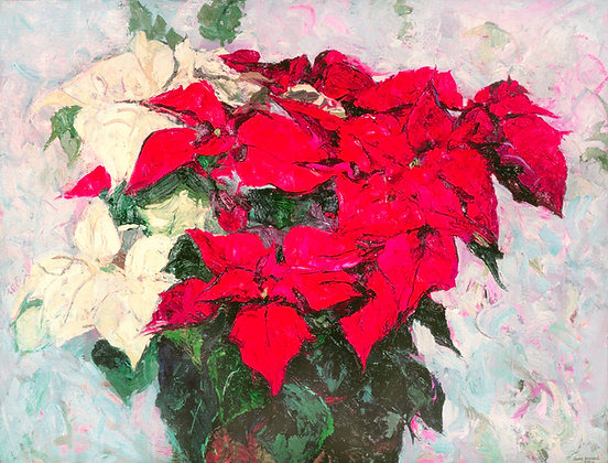 Poinsettia (2002) Hand-Deckled Card
