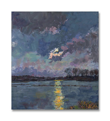 "Moon Over the Bayou II (2021) Giclée on Canvas - 42.75"" x 38"""