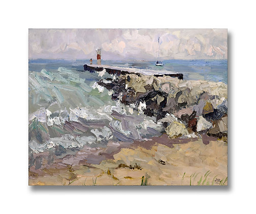 "North End, Saugatuck Harbor Natural Area (2014) Giclée on Canvas - 22"" x 28"""