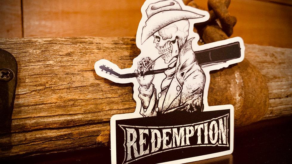 4 inch Redemption Sticker