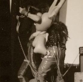 Seattle POP Alice Cooper with blow up do