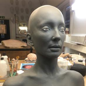 Hyper real actress replica sculpt