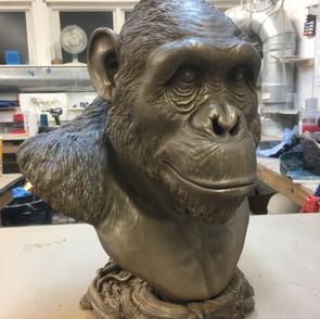 Cast of Chimp Bust