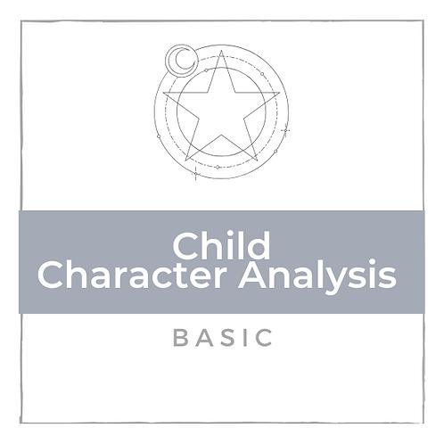 Kinder Charakter Analyse - Basic