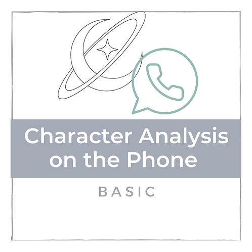 Charakter Analyse - Basic - am Telefon