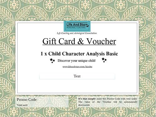 Kinder Charakter Analyse – Basic - Gutschein
