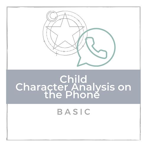 Kinder Charakter Analyse - Basic - am Telefon