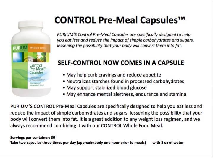 PURIUM Control Pre Meal Capsules