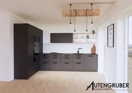 Küche_industrial_Style_kochinsel_schwarz