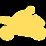 Черно-желтый логотип с иконкой автобуса