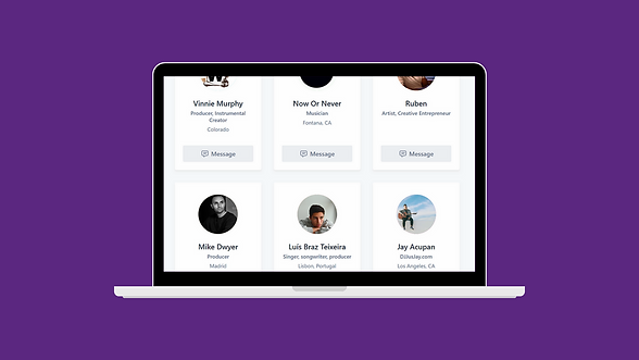 Connect with music artists