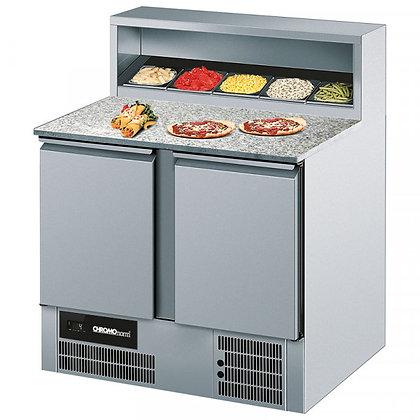 Belegstation/Pizzakühltisch GN 1/1, 2 Türen