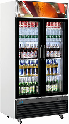 Getränkekühlschrank mit Werbetafel - 2-türig