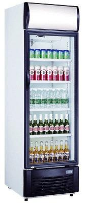 Getränkekühlschrank mit Werbetafel