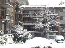 Building in snow