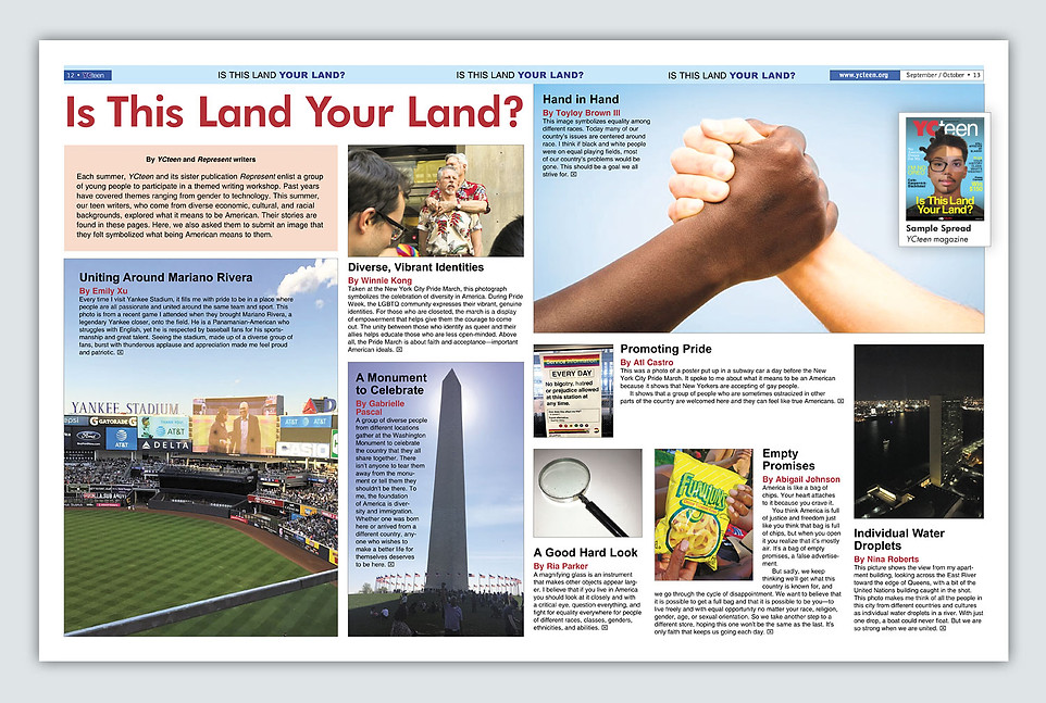 Magazine Layout Sample
