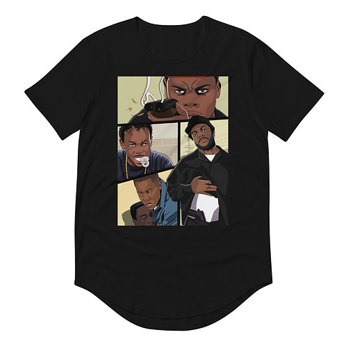 In the hood Curved Hem T-Shirt
