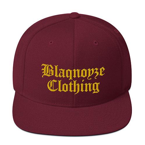 Old English Blaqnoyze Snapback Hat