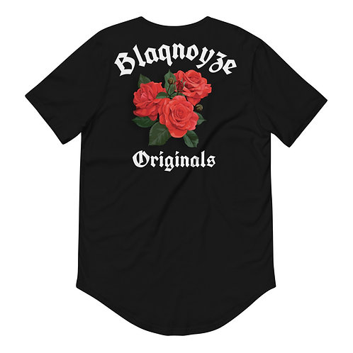 Blaqnoyze Originals Curved Hem T-Shirt