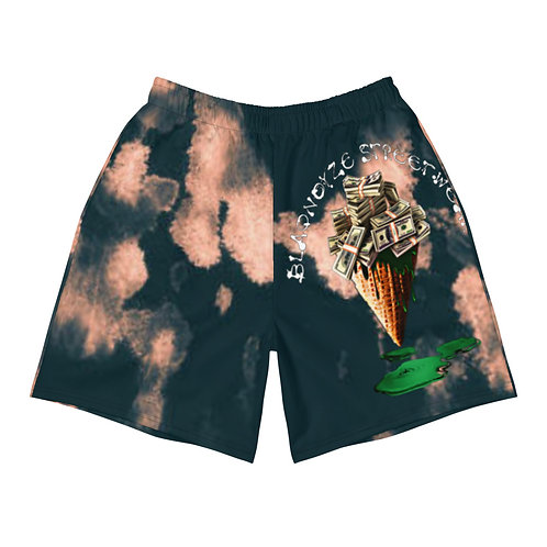 Blaqnoyze Cream Men's Athletic Long Shorts