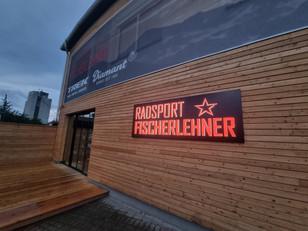 """Leuchtschrift                            """"Radsport Fischerlehner"""""""