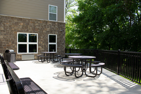 Back Patio and Walkway to 24 Hour Grocery Store