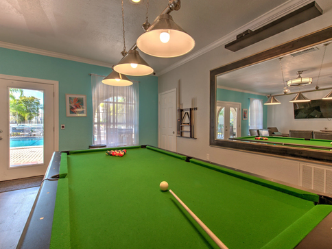 Play Pool in our Clubhouse