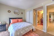 South Florida sunlit bedroom.
