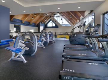 Plenty of exercise equipment within our fitness center!
