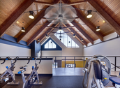 Exercise bikes in our fitness center