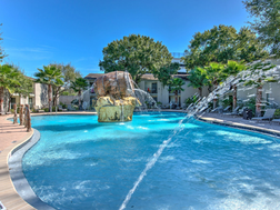 Our resort style pool even has a fountain!