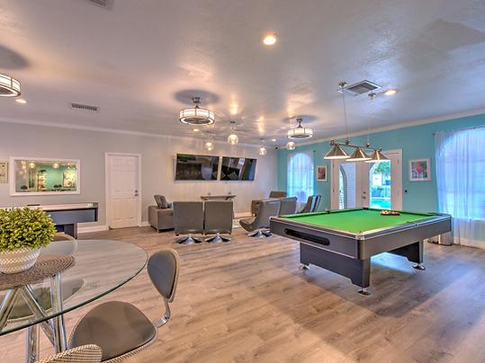 Billiard room in clubhouse