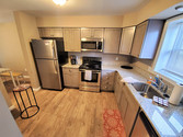 Enjoy custom cabinetry and stainless steel appliances when you dine within our student housing.