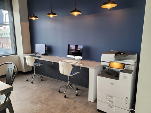 Student Business Center with Printers