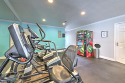 Vending Machine and Exercise Bikes in Fitness Center