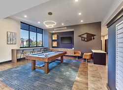 Campus Heights Student Lounge with pool table