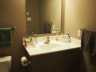 Full-Sized Vanity in Upstairs Bathrooms
