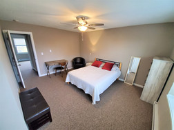 Enjoy private bedrooms that are fully furnished with a study desk w/ chair, closet space, and a full-sized bed for your comfort.