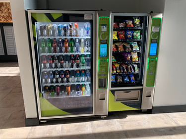 Drink and Snack Vending Machines in the Clubhouse